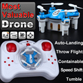 Mini bolsillo pequeño control remoto rc helicóptero quadcopter quad copter drone toys vs cheerson cx-star jjrc h20 fq777-124 fswb