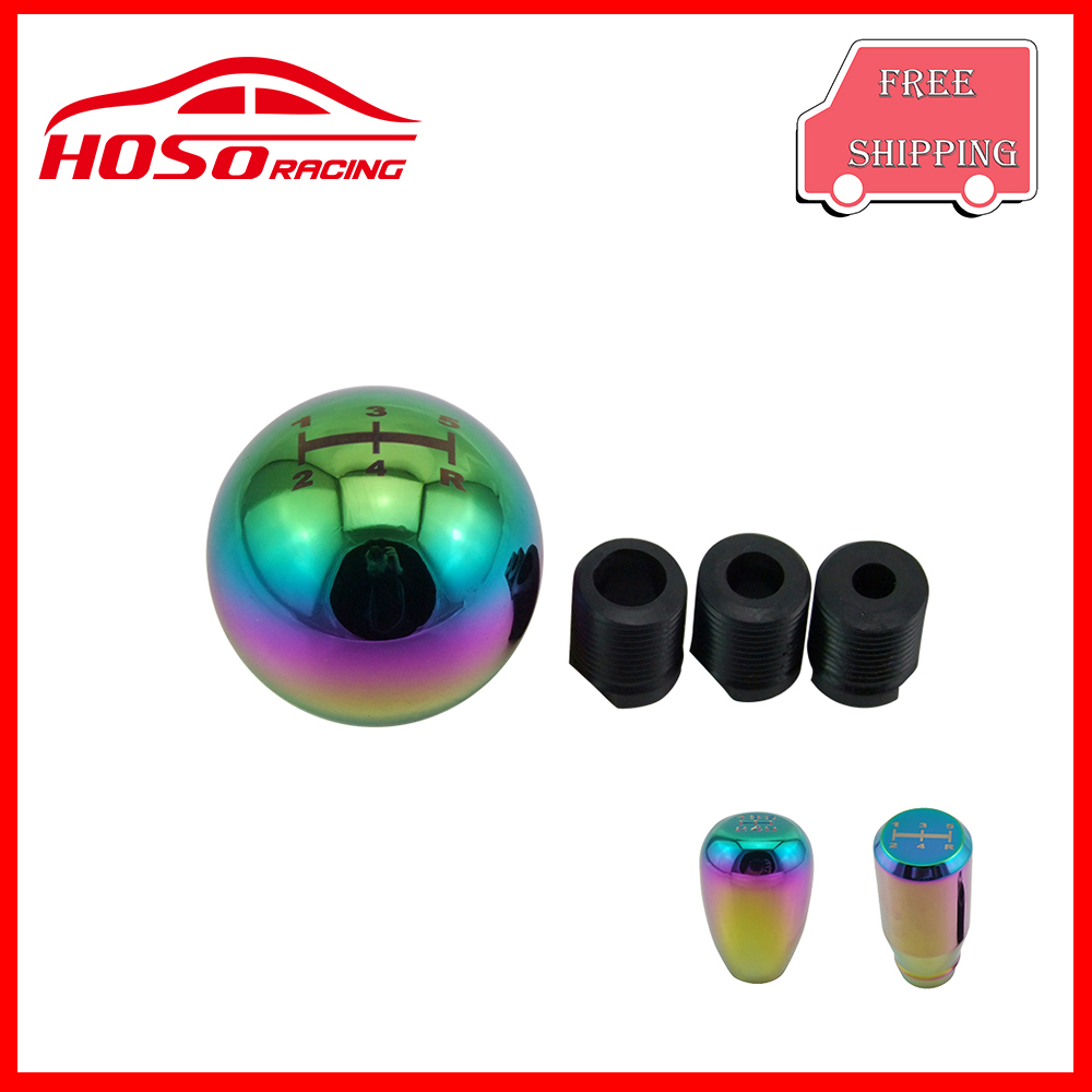 Car Aluminum neo chrome 5 speed and 6 speed Shift Knob Chrome Universal High Resistance High Temperature Tolerance