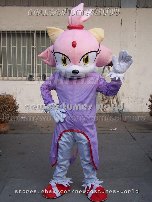 new SONIC BLAZE THE CAT Mascot costume Adult KIDS Size