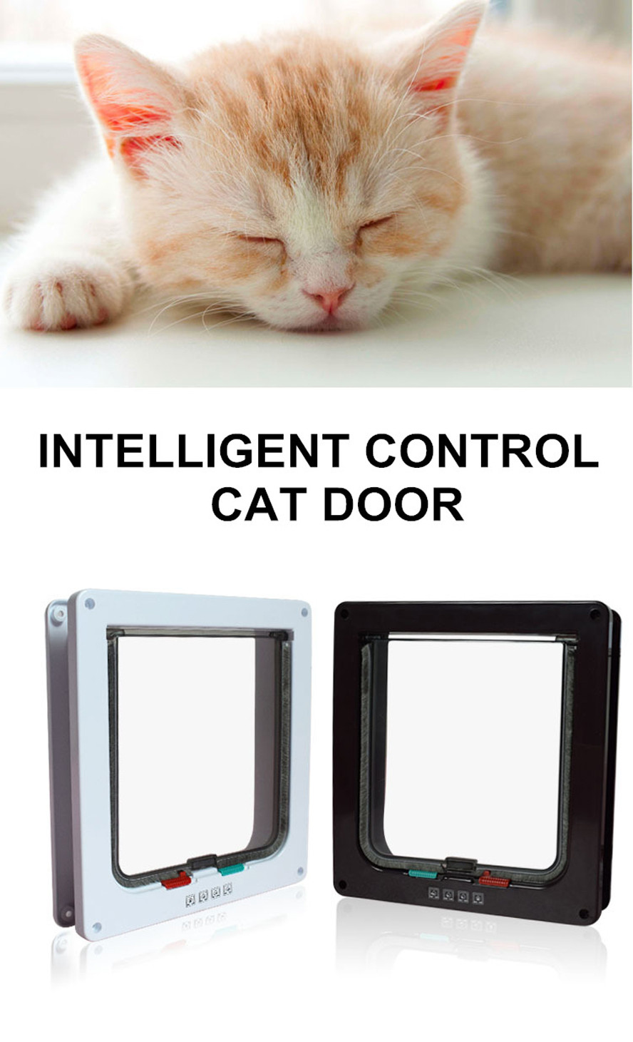 Cat Gates Door cat gates door 3 Size 4 Way Cat Gates Door Lockable Safe Flap Door HTB1bipNOVXXXXXgXVXXq6xXFXXXD