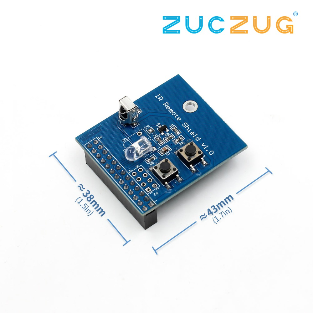 38KHz IR Infrared Control Expansion Board Transceiver Receiver Transmitter Shield DIY Double IR Emitter For Raspberry Pi38KHz IR Infrared Control Expansion Board Transceiver Receiver Transmitter Shield DIY Double IR Emitter For Raspberry Pi