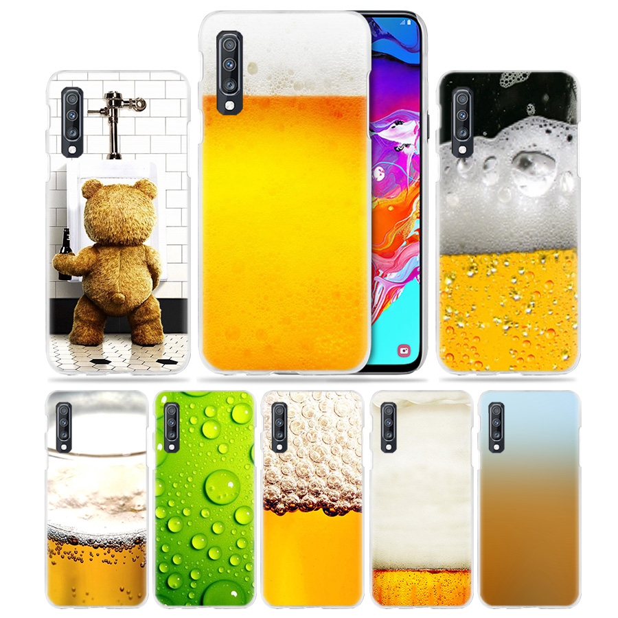 Summer Beer Case for Samsung Galaxy M40 A50 A80 A70 A60 A40 A30 A20e A10 J4 J6 Plus J8 2018 S10e S10 5G Hard PC Phone Cover Capa image