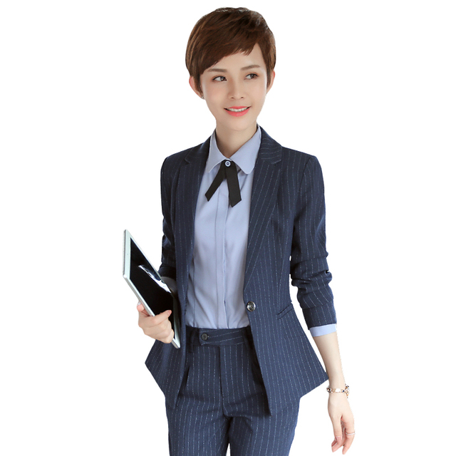 Two Pieces Suits Ladies Formal Skirt Suit Office Uniform Style