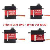 ALZRC 3pieces DS452MG Servos+1piece DS501MG Servo For 380 450 480 500 RC Helicopter