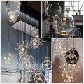 Стеклянная пузырчатая Люстра для столовой гостиной спальни кухни креативная подвеска Микки Маус лампа лестница Овальный подсвечник
