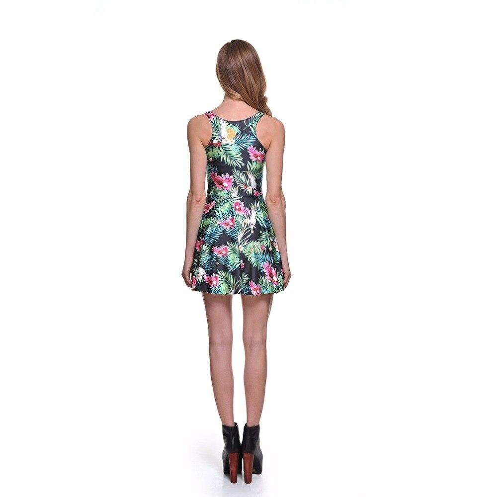 67f68fb16e 3 Pegatinas para uñas mujeres rojo flor verde hoja verano patinador vestido  gris amarillo girasol impresión plisada Vestidos sobre la rodilla S A 4xl en  ...