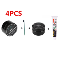 4pcs Set Bamboo Toothpaste Charcoal Ultra Soft Toothbrush Daily Use Teeth Whitening Bamboo Charcoal Powder Oral