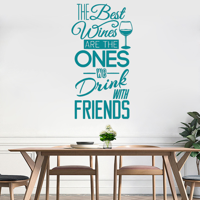 GA13 Quotes Wall Decal Vinyl Movable Sticker Dining Room Kitchen Restaurant Art Mural