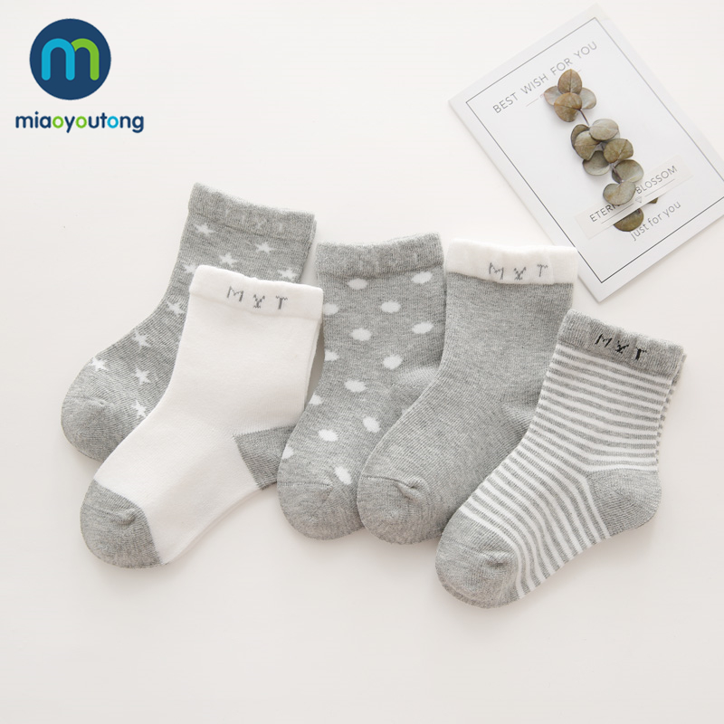 5 Pair Safe Knit Comfort High Quality Cotton Soft Newborn Socks Kids Boy New Born Baby Girl Socks Meia Infantil Miaoyoutong
