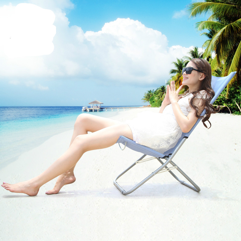 Promotion high quality  folding sun chair outdoor leisure chair Mini beach chair  large bearing capacity  free shipping high quality sun lounge aluminum alloy fishing chair folding outdoor chair strong bearing portable leisure chair free shipping
