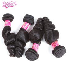 Queen Love Hair Loose Wave 100% Human Hair  Brazilian Bundles Extensions Natura Color Remy Hair 4 Bundles Free Shipping
