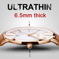 2017 Brand Luxury Leather Strap Watch Men Business Casual Quartz Watches Military Wristwatch Waterproof Calendar Display