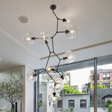 Lindsey Adelman Globe Branching Chandeliers Lights Fixture Modern Glass Bubbles Droplight Hotel Home Indoor Lighting Ac110v