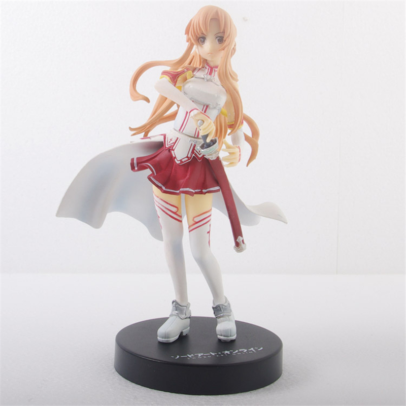 Japan Anime Yuuki a girl with the sword Asuna Action Figure 15CM PVC Model Toy With Box Collection Toys gift For Children japan anime figma sword art online figma 178 yuuki asuna sao new pvc action figure collection model toys doll 15cm