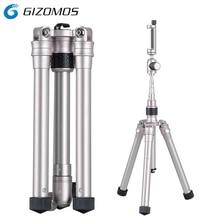 GIZOMOS GXG-215P 3in1 Estande Suporte Do Telefone Móvel Selfie Vara Monopé Tripé Para DSLR Camera Smartphone Com Grampo de Telefone Celular