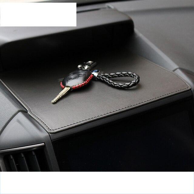 lsrtw2017 fiber leather car dashboard cellphone mat for subaru forester xv 2013 2014 2015 2016 2017 2018 2019 2020 1