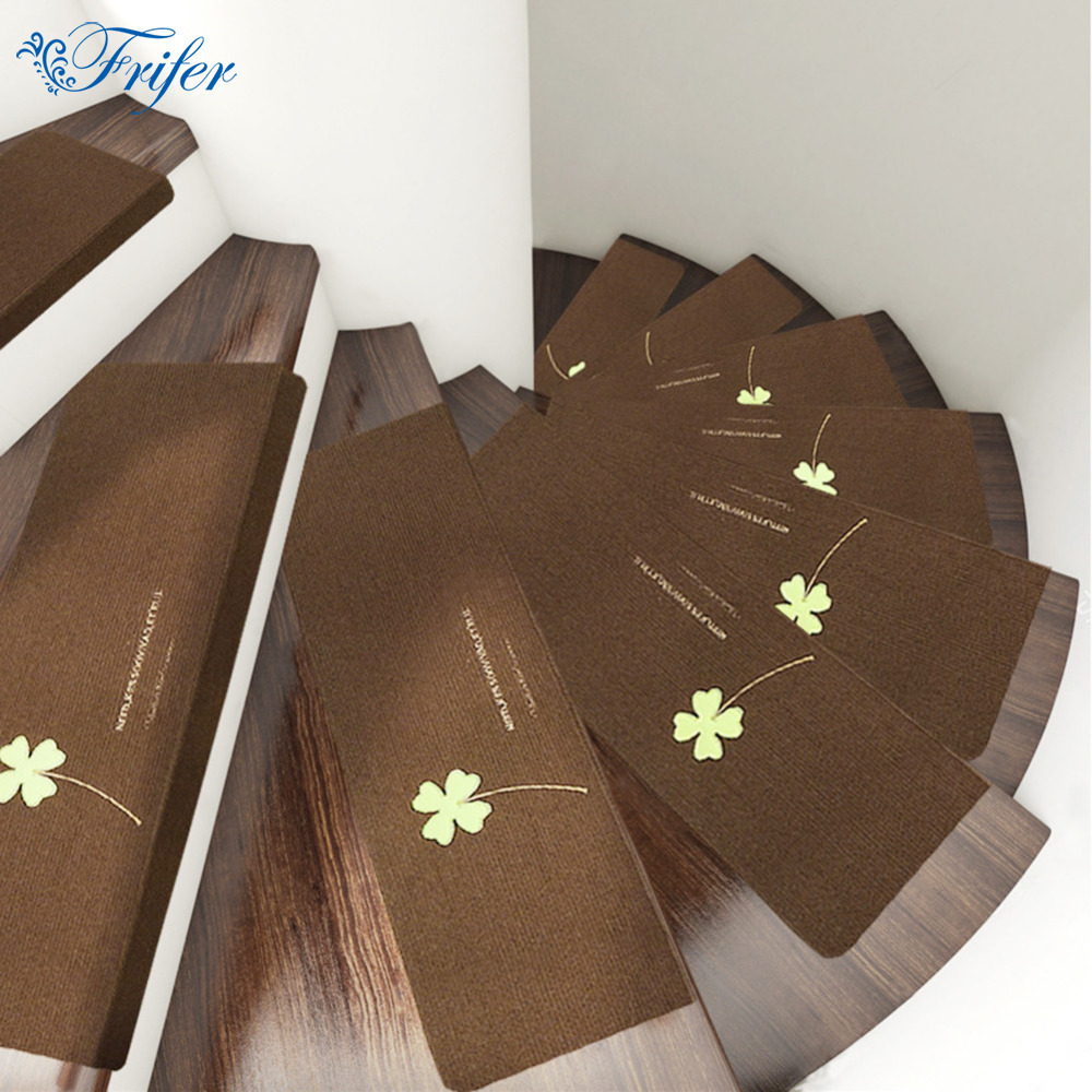 5pcs/set Creative Luminous Staircase Mat Glowing Non-slip Floor Carpet Self Adhesive Ste ...