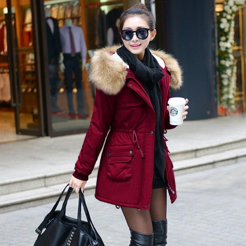 2015 winter jacket women fashion parka slim outwear manteau hiver femme military fur coats. Black Bedroom Furniture Sets. Home Design Ideas