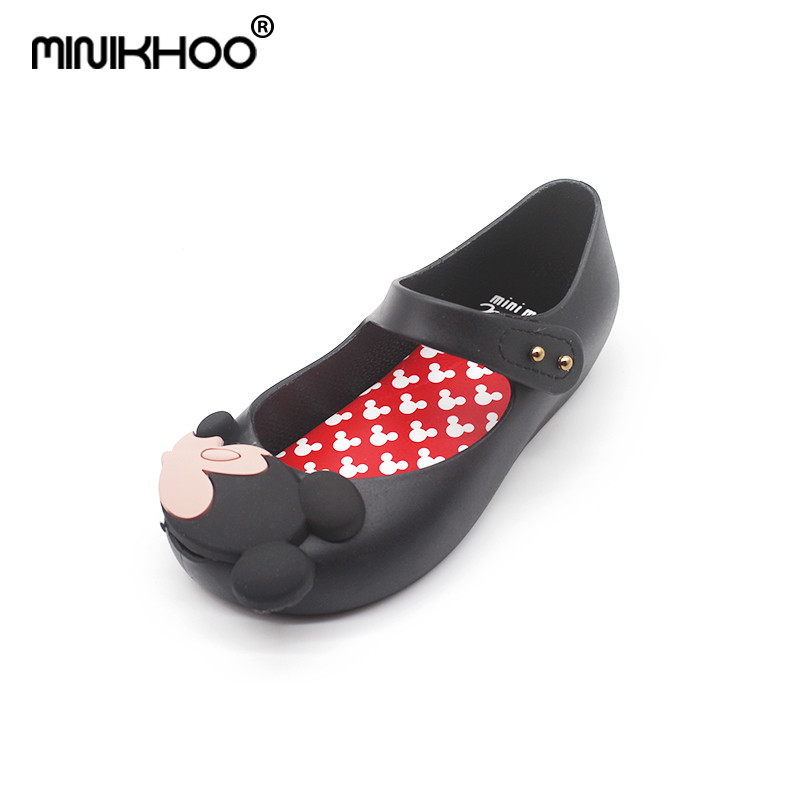 Mini Melissa 2018 Brazil New Jelly Shoes Mickey & Minnie Girls Shoes Crystal Mini Meliss ...
