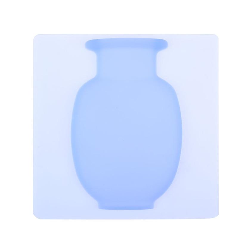 Современная ваза для украшения интерьера с силиконовая наклейка садовый гаджет растение обслуживание ваза декоративная стенная ваза Wazon 30JULY24 - Цвет: Синий