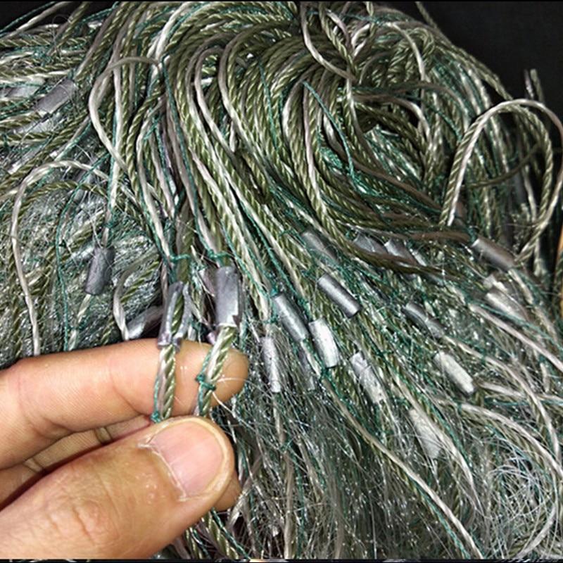 0 15mm wire H1 5m L50m 3layer 3cm mesh sea fishing fish trap fishing network potes rede de pesca sink fishing net china gill net in Fishing Net from Sports Entertainment