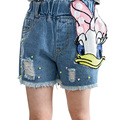 Free Shipping Baby Girls Shorts Jeans Duck Printed Summer Cotton Children Shorts Kids Denim Shorts for Girls Clothes