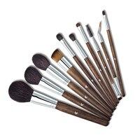 10 Pcs Professional Makeup Brushes Set High Quality Make Up Brushes Full Function Studio Synthetic Make