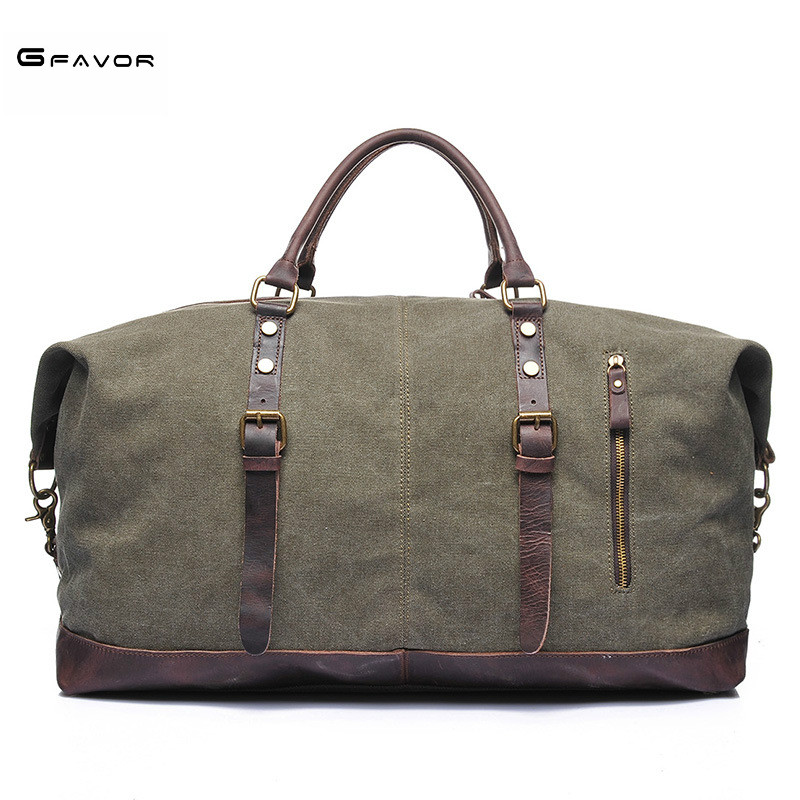 Casual vintage men messenger bag fashion canvas solid unisex large capacity travel tote cross-body classic handbag Weekend Bag