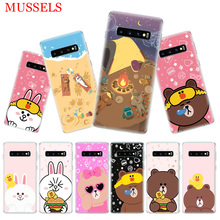 Couples Brown Cony Phone Case for Samsung Galaxy S10 Plus S10E Lite A50 A70 A30 A10 A20E M30 M20 M10 A20 A80 A40 Coque Cover