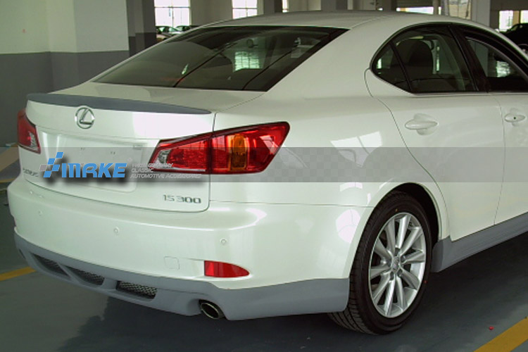 For Lexus IS250 IS300 IS350 2007 2008 2009 2010 2011 2012 2013 ABS Plastic Unpainted Primer Trunk Wing Rear Spoiler Car Styling car rear trunk security shield cargo cover for lexus rx270 rx350 rx450h 2008 09 10 11 12 2013 2014 2015 high qualit accessories