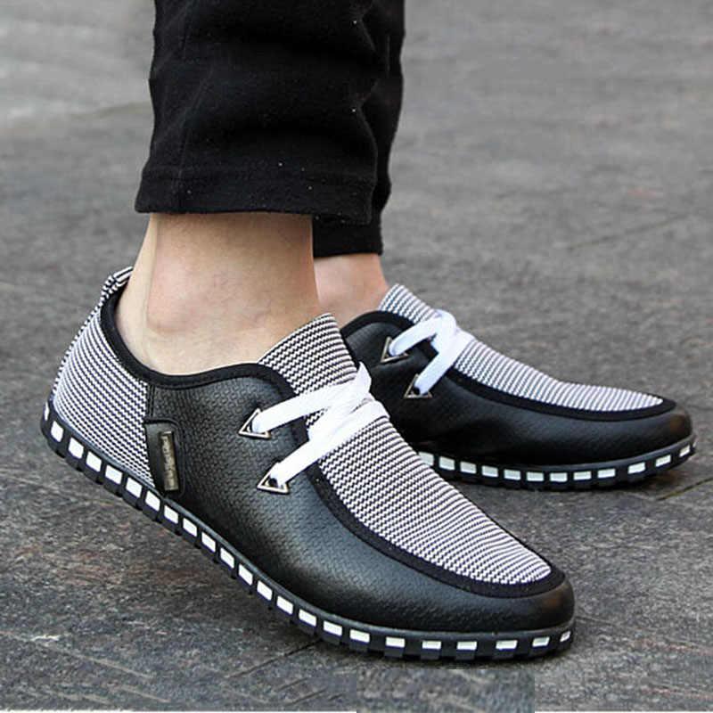 Merkmak/Новинка; модная холстовая Мужская обувь; брендовая мужская обувь на плоской подошве; дышащая обувь в деловом стиле; высокое качество; большие размеры 39-46