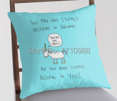 Free shipping Believing in Unicorns Pillowcase Zippered Pillow Case(two sides) for 12×12 14×14 16×16 18×18 20×20 24×24 inch
