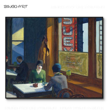 Reproduce Famous Oil Painting Edward Hopper Chop Suey Hand-painted Canvas Wall Art
