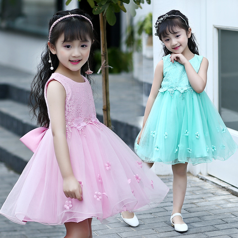 Girls Dress For Girls Princess Birthday Party Dresses Kids Wedding Dress 2017 Girl Summer Tutu Lace Dress Children Clothes 13 14  summer baby girls party vest dress linen cotton ruffle tutu dress for girl kids 1st birthday princess dresses children clothing