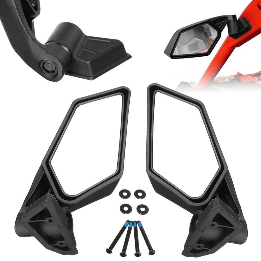for BRP Can-Am Maverick X3 Racing 2017-2018 Side Rear View Mirror Dual-Adjust AS