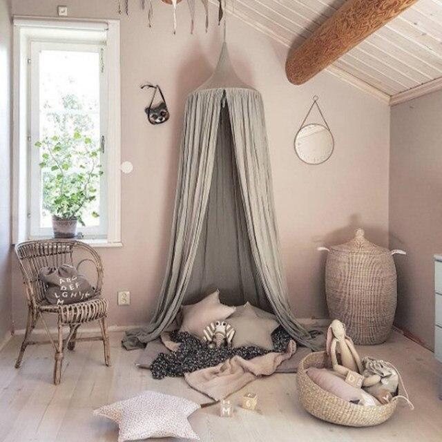 Kinderbett Baldachin Bett Vorhang Runde Dome Hängen Moskitonetz Zelt  Vorhang Moustiquaire Zanzariera Baby Spielen Hause Klamboe