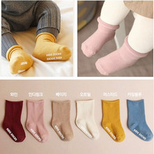 Детские носки для малышей, детские Нескользящие носки хлопковые носки для новорожденных с мультяшными животными носки-тапочки Милая Одежда для мальчиков и девочек