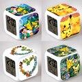LED Alarm Clock Pokeball Colors Change Digital Night Light Electronic Japanese Anime Clock Boys & Girls Gift #EA