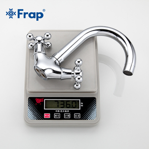 Image 5 - FRAP Silver Bathroom faucet Dual Handle Vessel Sink Mixer Tap Hot and cold separation switch F1319