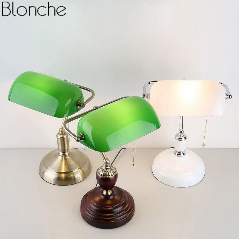 Desk Lamp Chinese Retro Emerald Table