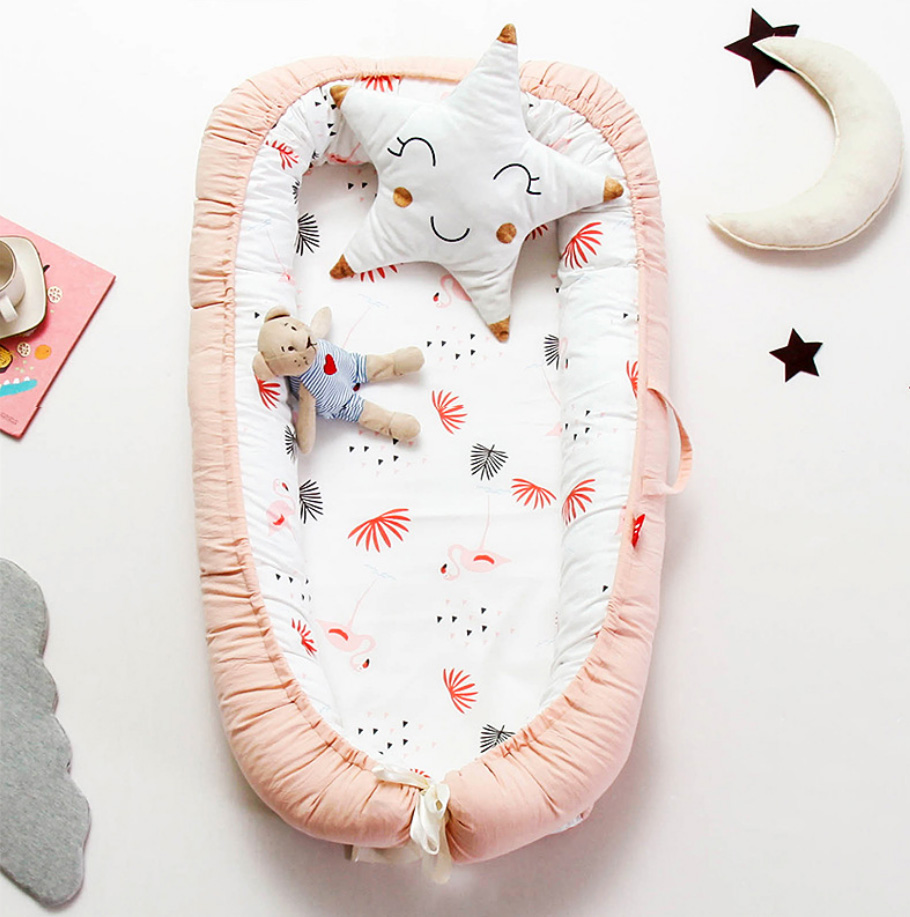 Bébé nid lit voyage berceau bébé lit infantile CO dormir coton berceau Portable blottir 90*55 cm nouveau-né bébé couffin BB artefact - 4