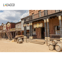 Laeacco American Western Cowboy Bistro Scene Saloon Photography Backgrounds Customized Photographic Backdrops For Photo Studio