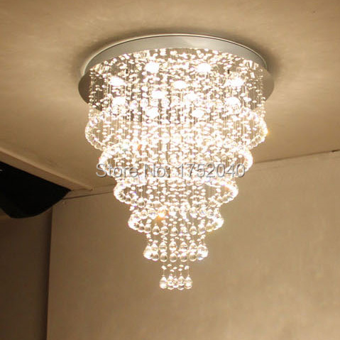 Crystal Pendant Lamp Round Light Fixtures For Living Room /hotel(China  (Mainland)