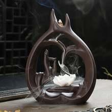 Будда ручной ароматической горелки для благовоний дым водопад