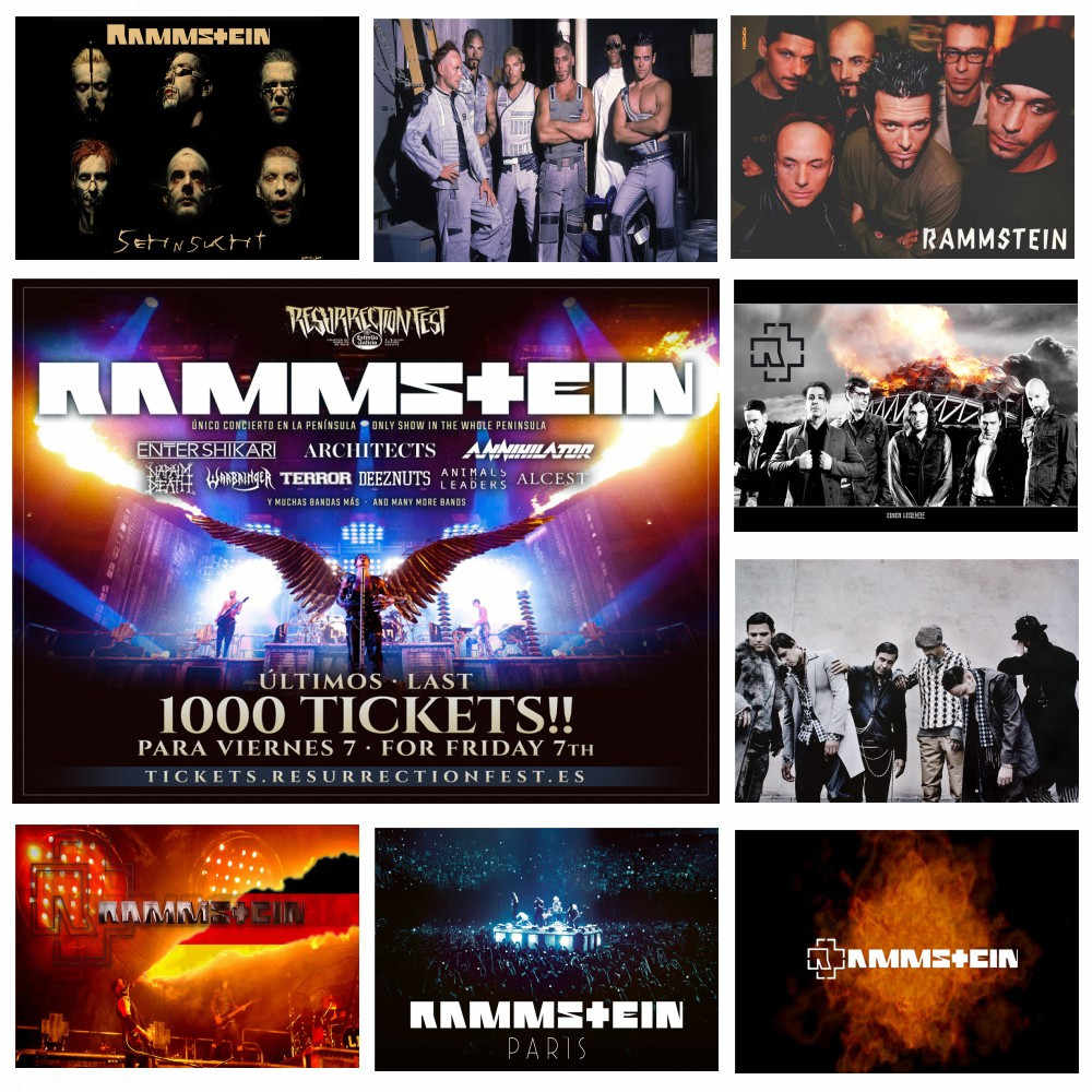RAMMSTEIN German Chariot vintage coated paper poster, rock bar, room decoration,decorative painting,Wall Sticker buy 3 get 4