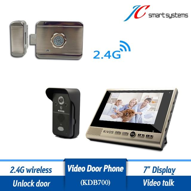 Home Door Opening System Wireless Door Phone Intercome Unlock Electric Door  Lock Remotely (Packing With