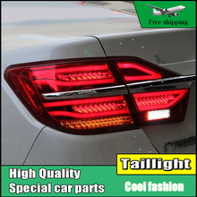 Car Styling Tail Lights For Toyota Camry V55 2015 2016 Taillights LED Tail Light Rear Lamp DRL With Moving Turn Signal Light