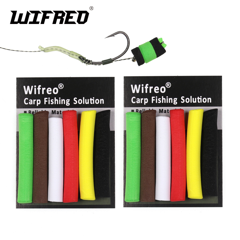Wifreo 12pcs/2bags 8mm 5mm Carp Fishing Pop Up Foam Zig Rig Foam Sticks Hair Rig Floating Carp Fishing Bait Red Green Yellow Elegant Shape Fishing Lures