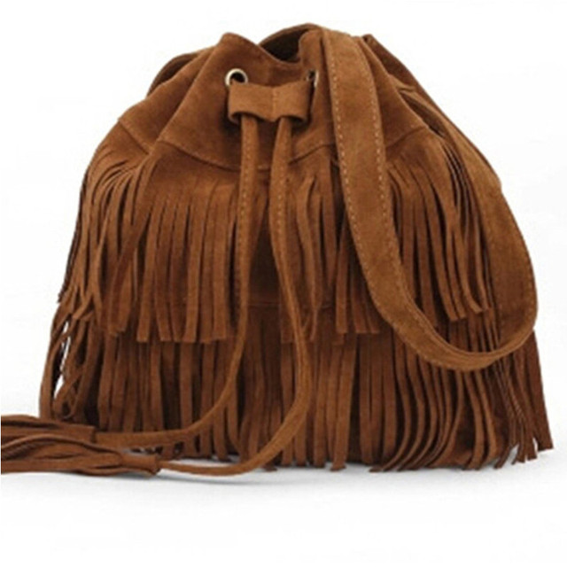 2017 Retro Faux Suede Fringe Women Crossbody Messenger Bags New Handbag Tassel Shoulder Handbags Bag Gift Free Shipping N513