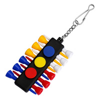 Colorful Golf Tees Golf Tees 83mm Rubber Cushion Top Accessories